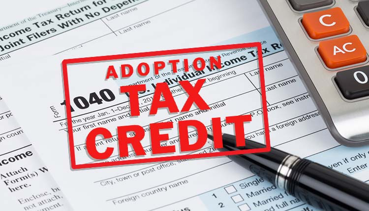 Adoption tax credit stamp on tax forms